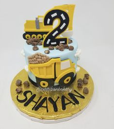 Sweets, treats, and custom cakes in San Jose — C'est Si Bon Bakery Baby Boy Cakes, Cakes For Boys, Beautiful Cakes, Amazing Cakes, Excavator Cake, Dump Truck Cakes, Bite Size Cookies, Cupcake Cakes, Cupcakes