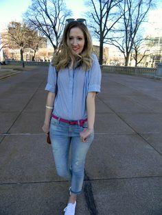 weekend style: girlfriend jeans