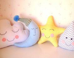 4 Almofadas Nuvem, Lua, Estrela, Gota