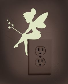 Glow in the dark fairy decal light switch by dadavinylsanddesigns