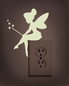 Glow in the dark tinker bell decalsticker by dadavinylsartdesign