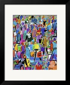 Shoppers Giclee Print by Diana Ong at Art.com