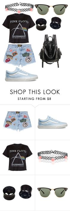 """""""warped tour 2k16"""" by bigcitidreams on Polyvore featuring MadeWorn, Vans, New Look, Accessorize, NOVICA and Ray-Ban"""