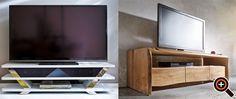 TV Schrank, Rack & Board – schwarz, weiß, rot – modern & hochglanz