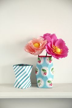 DIY ORIGAMI VASES paper crafting
