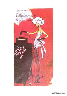 byron lars sketch for the fashion and food desk diary of 1994