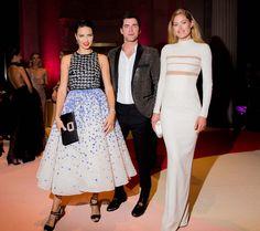 Adriana Lima in Giambattista Valli Haute Couture, Sean O'Pry, and Doutzen Kroes
