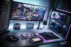 gaming setup Hunting for the best gaming desktop under 1000 bucks in We have picked 4 gaming rigs after thorough research and here is everything you need to know. Gaming Computer Setup, Gaming Room Setup, Gaming Desktops, Computer Technology, Gaming Rooms, Office Setup, Pc Setup, Gamer Room, Pc Gamer