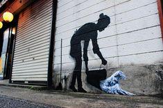 Nuovi dipinti per le strade di Tokyo, Hong Kong e Seul di Pejac