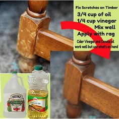 Inexpensive way to add new life to older, scratched furniture...
