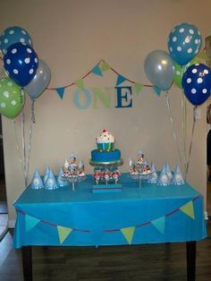 first birthday decorations for boys - Google Search