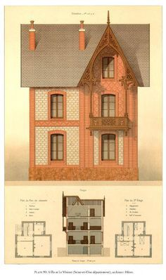 Trendy Home Design Drawing House Plans Ideas Victorian Architecture, Architecture Old, Historical Architecture, Architecture Details, New Home Designs, Home Design Plans, Style At Home, Drawing House Plans, House Drawing