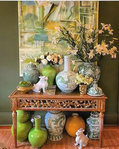 So glad and I were able to see the before it came to a close. Home Interior Design, Interior Decorating, Decorating Ideas, Colonial, Chinoiserie Chic, Asian Decor, Ginger Jars, Eclectic Decor, Southern Style