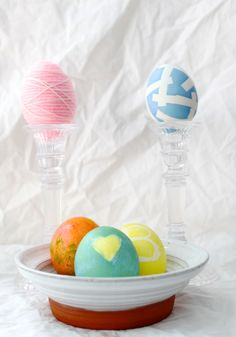 various egg dying and decorating techniques #easter