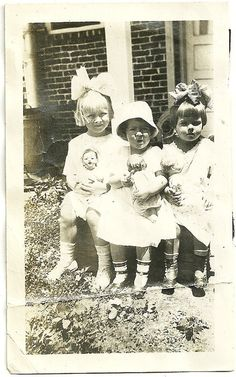 Antique Photograph Adorable Little Girls In Big by christmasangel, $6.25