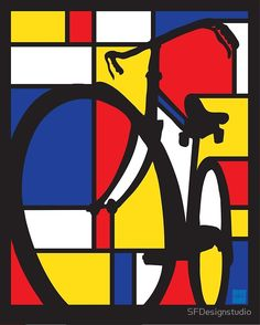 """Mondrian Bicycle"" Art Prints by SFDesignstudio 