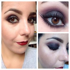 Vamp style makeup.