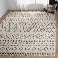 Shop for Nourison Moroccan Marrakesh Cream Fringe Shag Rug - x Get free delivery at Overstock - Your Online Home Decor Store! Get in rewards with Club O! Area Rugs For Sale, Rug Sale, Solis, Online Home Decor Stores, Home Decor Outlet, Cool Rugs, Rugs Online, Colorful Rugs, Moroccan