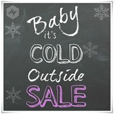 Baby it's cold outside! Are you ready for winter sales? Its Cold Outside, Winter Sale, The Outsiders, Neon Signs, Crowd, Knitwear, Baby, Tricot, Knits