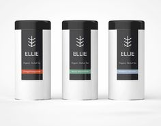 Logo and packaging design for Ellie – a company that specialize in selling various organic herbal teas. The logo is representative of a tealeaf. It also takes advantage of the first and last letters of the company name. The packaging is minimal and clean with a splash of color to differentiate the various tea flavors.