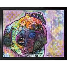 'Pug Love' Graphic Art Print Format: Budget Saver Framed by Wayfair