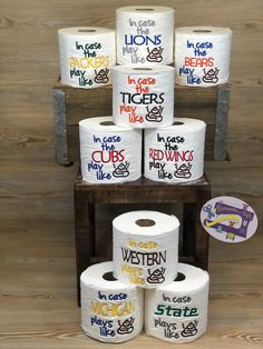 a47f096ab Sports Embroidered Toilet Paper Gag Gift, Football gift, Hard to shop for,  Unique