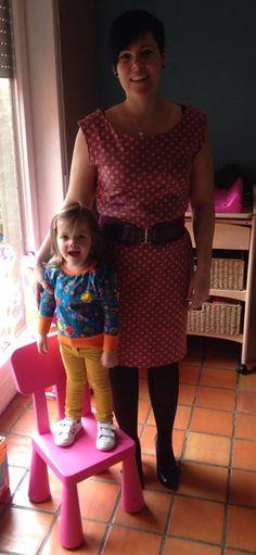 City Dress voor mama / Julia sweater van Compagnie M voor de dochter http://magnifieka.blogspot.be