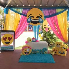 Photo booth area- emoji party