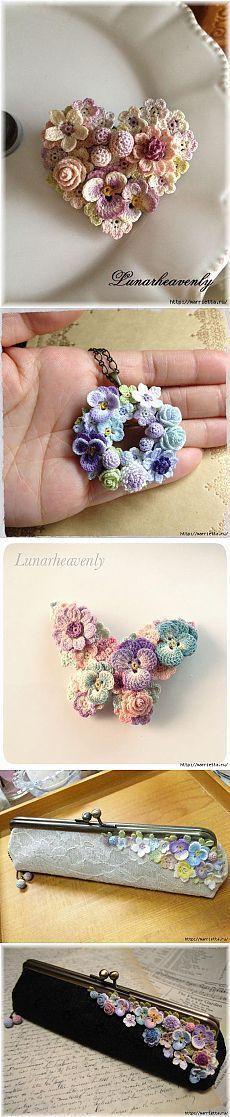 Adorno en crochet . Flores.