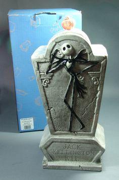 Nightmare Before Christmas Jack's Tomb Cookie Jar