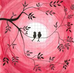 lovebirds Love Birds, Snoopy, Fictional Characters, Art, Art Background, Kunst, Fantasy Characters, Art Education