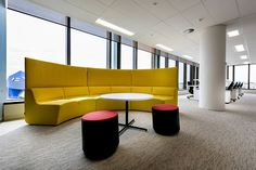 Bloom Circlet by Keith Melbourne featured in HBF. Designed by Geyer, Photographer: Joel Barbitta Perth, Modular Lounges, Flexible Working, Circlet, Workplace, Bloom, Furniture, Table, Melbourne