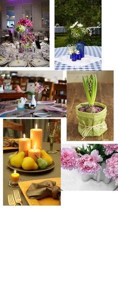 blomsterdekorationer borddækning