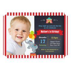 Carnival Circus Birthday Party Invitations