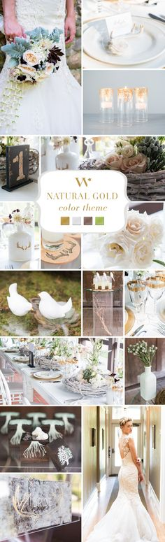 Glittering gold. The perfect accent whether opulent or antique. Wedding color inspiration.