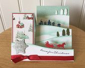 Stampin Up handmade Christmas card - side step - winter village