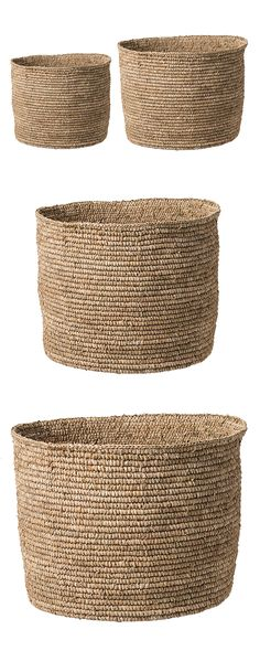 Beautiful and basic—that's your style. Embrace it with this cool set of two Nassau Seagrass Baskets. Woven strands of seagrass emulate a shore-worthy and island-inspired aura, forming a pair of bins th...  Find the 2-Pc. Nassau Seagrass Baskets, as seen in the Rustic Spring Table Collection at http://dotandbo.com/collections/rustic-spring-table?utm_source=pinterest&utm_medium=organic&db_sku=118797