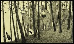 """?""""It's as if Maurice Sendak and Edward Gorey had a baby, and all that baby did was read HPL."""" The works of Don Kenn"""