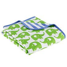 Double Sided Baby Wrap - Green Elephant