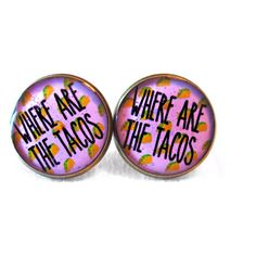 Where are the Tacos Earrings, 90s Style Internet Culture Bubblegum Nu... ($10) via Polyvore featuring jewelry, earrings, goth earrings, gothic jewelry, pastel goth jewelry, goth jewelry and earrings jewellery