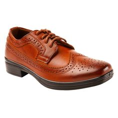 Boys' Deer Stags Ace Oxford Oxfords - Chestnut (Brown) 12.5, Boy's