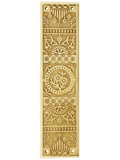 Cast Brass Windsor Pattern Push Plate | House of Antique Hardware Antique Hardware, Swinging Doors, Unique Gardens, Ceiling Medallions, Decorative Tile, Polished Brass, Whimsical, It Cast, Windows