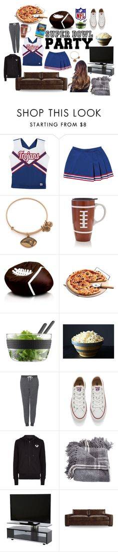 """""""Super bowl party!"""" by ali-tomlinson21 on Polyvore featuring Alex and Ani, Bodum, Hard Candy, Topshop, Converse, True Religion, Joybird Furniture, women's clothing, women and female"""
