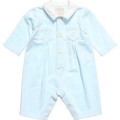 EMILE ET ROSE Baby Boys Blue Jersey 'Denby' Romper with Socks