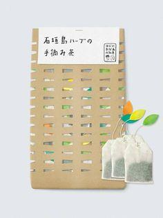 石垣島ハーブの手摘み茶. tea packaging collection PD