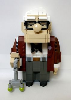 Lego version of Carl Fredricksen from Disney/Pixar's new film, Up.