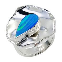 modern opal ring designs - Google Search