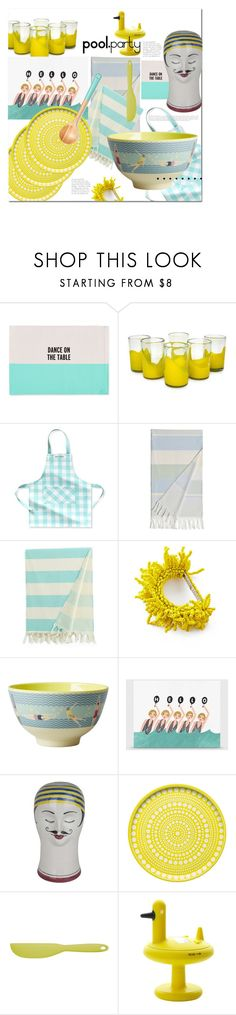 """Any Excuse."" by s-elle ❤ liked on Polyvore featuring interior, interiors, interior design, home, home decor, interior decorating, Kate Spade, NOVICA, Williams-Sonoma and Linum Home Textiles"