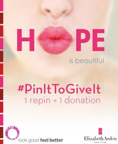 #PinItToGiveIt is back! Repin & we'll donate a lipstick to help women battling breast cancer look & feel beautiful.