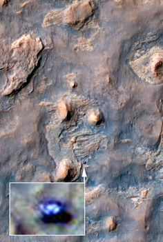 NASA-Sonde fotografiert unbemannten Roboter auf dem Mars...
